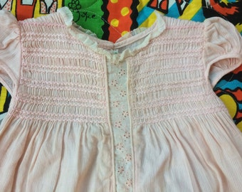 1940s Smocked Dress 9-12 Months