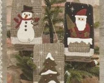 Primitive Folk Art Wool Applique Pattern - Christmas Ball Jar Ornaments Pattern - Buttermilk Basin Pattern
