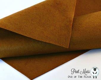 Peat Moss Wool Felt, Merino Wool Blend Felt, Wool Blend Felt, Wool Felt Yardage, Wool Felt Fabric, Brown Felt Fabric, Peat Moss Felt Yardage