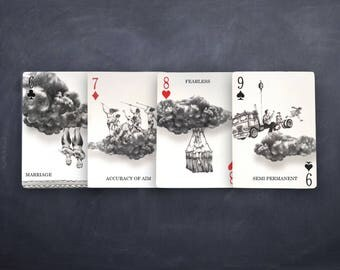 Good Fortune Cards {art for your pocket} - SET OF FOUR