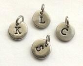 Add on Initial - letter to be stamped on PEWTER DISC