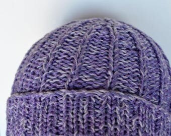 May Sale - 20% off Hand Knit Hat - Hallgrímur - Hand Knit Hat in Lilac, Orchid, Lavender Purple - Radiant Orchid - Vegan Friendly, All Cotto