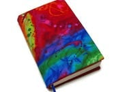 Book cover, TRADE SIZE paperback book cover,  book protector, cotton, padded cover, Color Crazy!