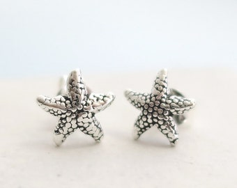 Tiny Starfish Earrings | Small Post Stud Earrings | Seastar | Small Delicate Everday Jewelry | Sterling Silver