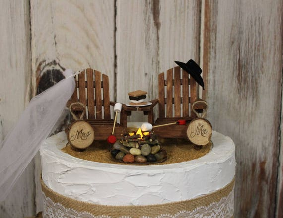 hunting wedding cake toppers canada wedding cake topper camping adirondack chairs 16214