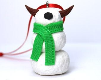 Timid SnowMonster Ornament (Green)