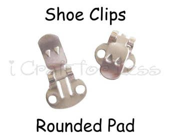 Shoe Clips Blanks - 2 (1 pair) with Rounded Pad - SEE COUPON