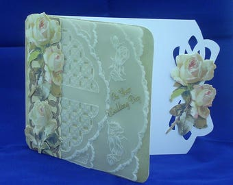 Wedding Card featuring decoupage and parchment craft
