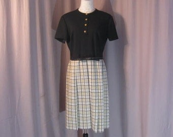 "Ladies Pleated Dress ""Mad Men"" style Drop Pleat Dress size 18"