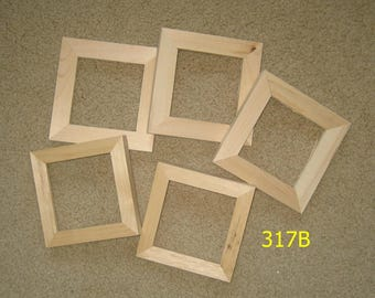 5 unfinished wood 4x4 picture frames my 317b