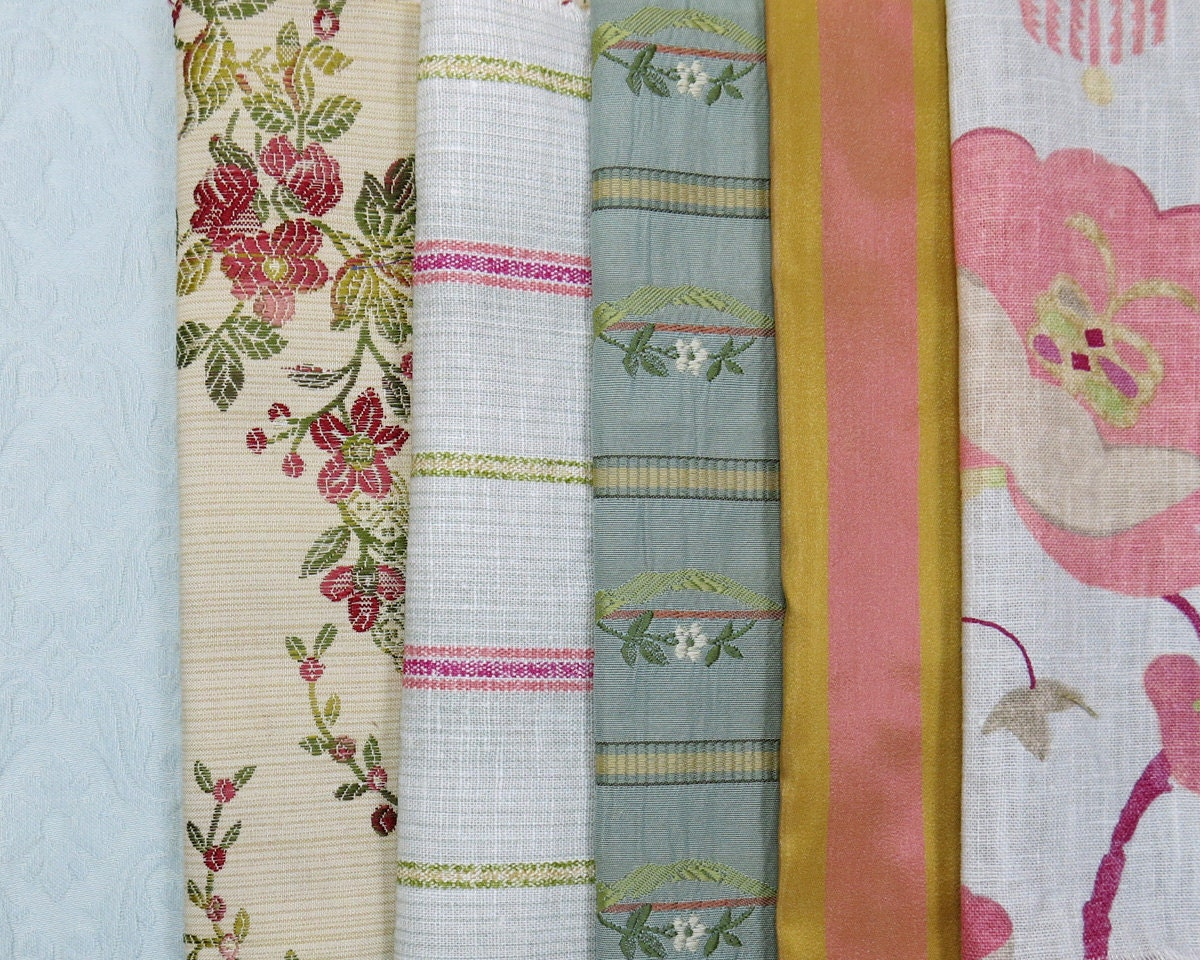 Light Mint Pink Green Fabric Pack Collection Destash