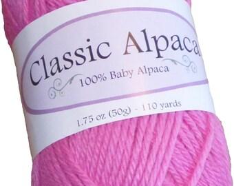 Classic Alpaca 100% Baby Alpaca Yarn #2061 Pretty In Pink by The Alpaca Yarn Company - 110 yds per 50g