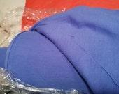 20 dollars per yard - 13+ yards Pure Merino Wool Fine Jersey Knit Fabric - Washable - Periwinkle Blue