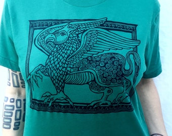 Green Griffin T-Shirt Eagle Lion Talons Celtic Creature Gift For Him/Her Made In USA Sm M L XL XXL