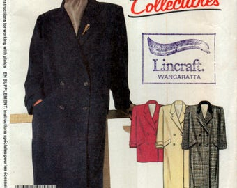 Ladies Coat or Car Coat McCalls 2180 34inch Bust Sewing Pattern