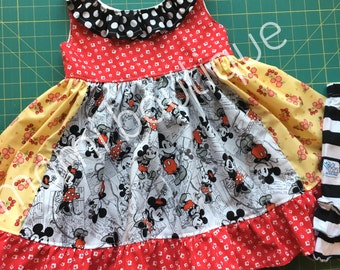 Disney Mickey Mouse Minnie Mouse dress by pink momi boutique