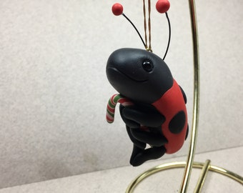 Ladybug Ornament by Shelly Schwartz
