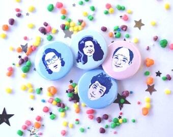 Seinfeld Badge Pack; Jerry, Elaine, George & Kramer