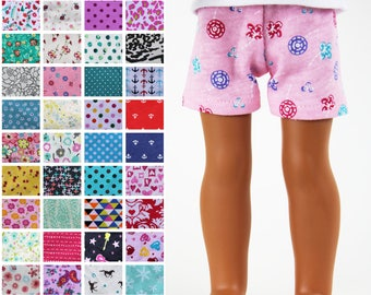 Fits like Wellie Wishers Doll Clothes - Knit Shorts, You Choose Print