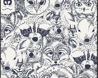Art Gallery Indian Summer Menagerie Onyx 100% Cotton Fabric