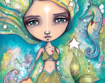 The Little Empowered Mermaid - Art Print