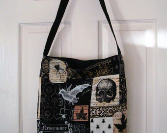 Check out this great Nevermore Tote Bag, pocket on the inside. Go to the Beach, Mall, Golfing, Flea Market, Spa!    16x14x4 MADE IN USA