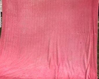 Vintage Pink Cutter Chenille Bedspread