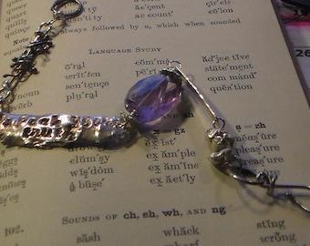 Speak Your Truth Fine Silver Sterling Silver Amethyst or Prehnite Bracelet Made to Order