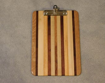 "Standard Size Hardwood Clipboard (9"" x 13"") with Pen / Pencil Holder"