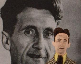 Writer Doll, George Orwell, Animal Farm, Miniature Art, Doll Collectible