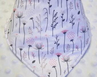 Floral Woodland Flora Bandana Baby Bib -- Drooler Bib --