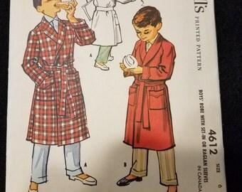 McCalls/4612/Pattern/Boys/Robe/1958
