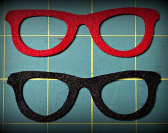 Die cut Glasses Frames  Felt, Cardstock, Fabric