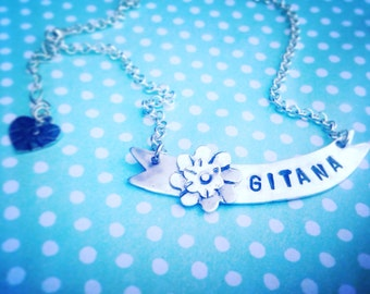 Gitana Banner Necklace Sterling Silver Artisan Jewelry Gypsy