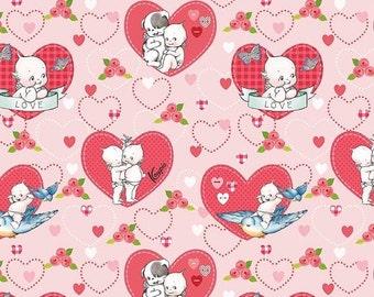 ON SALE Riley Blake Designs Kewpie Love - Main Pink