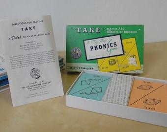 Vintage Take - A Play Way Phonics Game - Boxed Set E W Dolce 1959