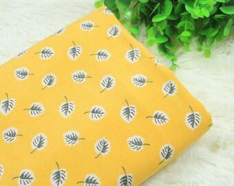 4574 - Leaf Cotton Thin Corduroy Fabric - 55 Inch (Width) x 1/2 Yard (Length)