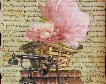 Instant Download - HOME - Printable Art - Journaling - Scrapbook Paper - Craft Supply