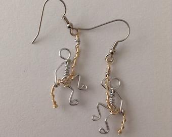 Rock Climbing Dangling Wire Earrings