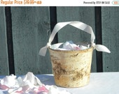 20% off ends at 5pm Sun Flower Girl Basket + Birch Flower Girl Baskets with Ribbon Handle, Rustic wedding flower girl baskets