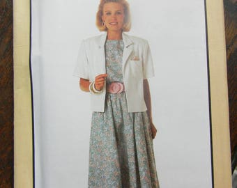 Vintage Simplicity Dress and Unlined Jacket Pattern #9483, Uncut Sizes 16 thru 24