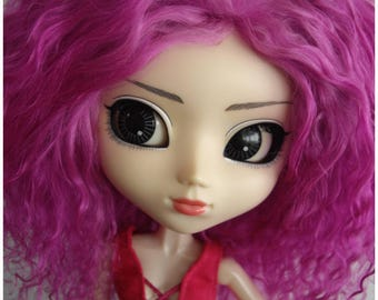 Light Purple tibetan mohair wig for pullip volks 9/10""