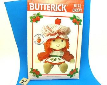 Uncut Strawberry Shortcake Doll & Clothes Butterick Pattern 6173