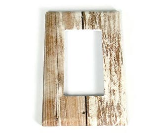 Rocker Switchplate  Light Switch Cover  Switch Plate in Whitewash (284R)