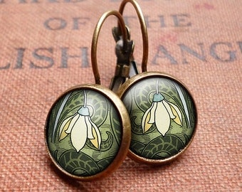 Snowdrop Leverback Earrings (AN05)
