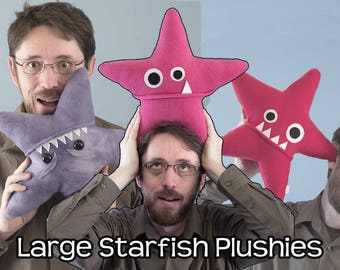 Large Starfish Fleece Plush - Many Colors