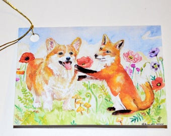 Pembroke Corgi & Fox Package Tie Ons