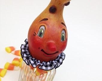 Halloween Candy Container – EHAG - Hand sculpted, OOAK, original paper mâché, Halloween, Gourd, jar, trick or treat, artist Alycia Matthews