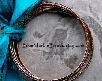 Bangle Bracelet, Thin Metal Bangle, Diy, Bangles for Wrapping, Antique Copper, Boho Findings, Metal Finding, Vintage Finding, 12 Bangles