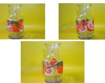 vintage orange juice drink glass carafe pitcher